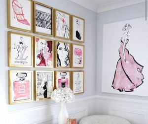 white, home, and pink image