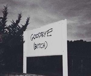 bitch, goodbye, and grunge image