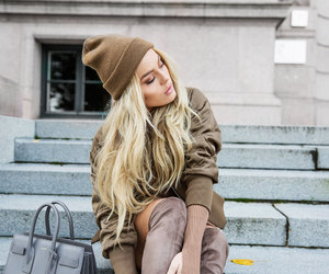 fashion, blonde, and outfit image