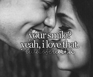 smile, couple, and love image