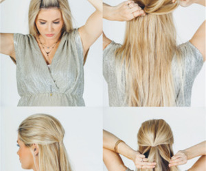 blonde, braid, and diy image