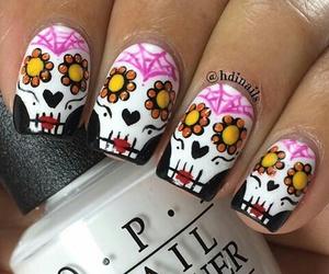 Halloween, nail art, and nail lacquer image