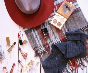 autumn, fall, and lipstick image
