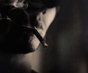 cigarette, smoking, and smoke image