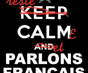 french and keep calm image
