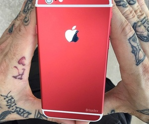 apple, case, and red image