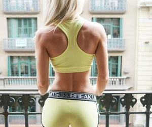 blonde, body, and workout image