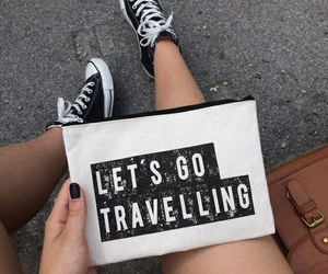 travel, converse, and black image