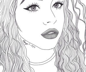 outline, drawing, and tumblr image