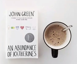 book, coffee, and john green image