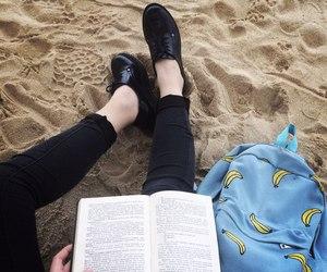 book, banana, and grunge image
