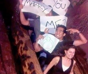 proposal, funny, and marry image