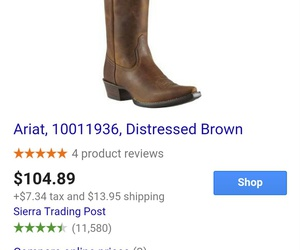 brown, distressed, and ariat image