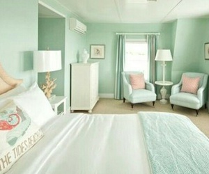 mint green and room image