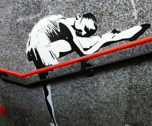 ballerina, street art, and ballet image