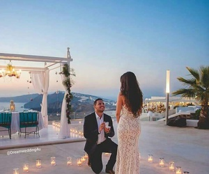 couple, ♡, and santorini image