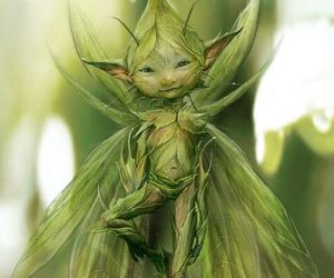 fairy, fantasy, and green image
