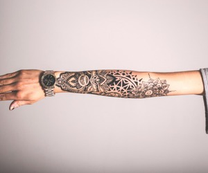 tattoo, arm, and ink image