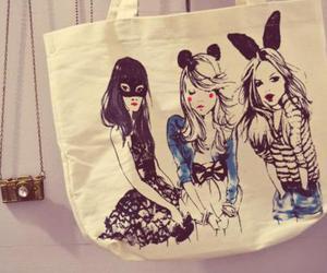 bag, girl, and camera image