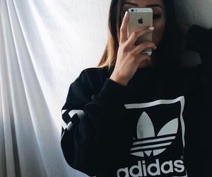 adidas, iphone, and black image