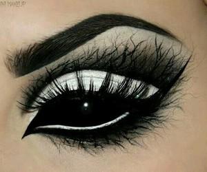 makeup, black, and Halloween image