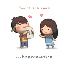 love, couple, and appreciation image