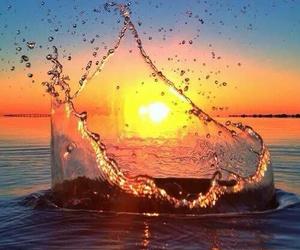 beautiful, pretty, and sunset image