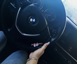 bmw, girl, and nails image