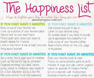 list, happiness, and inspiration image