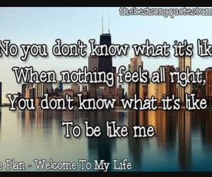 simple plan and welcome to my life image