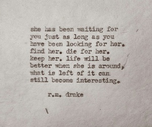 r.m. drake, quote, and love image