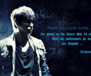elf, quote, and sungmin image