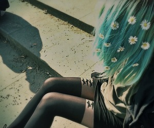 blue, grunge, and fashion image