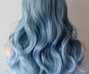 blue, hair, and wavy image