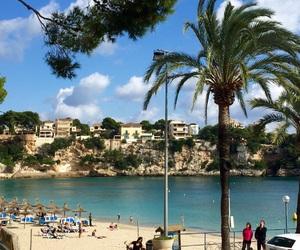 beach, holiday, and mallorca image