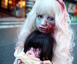 zombie, cosplay, and blood image