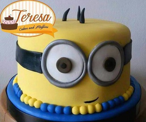 cake, lovers, and minions image