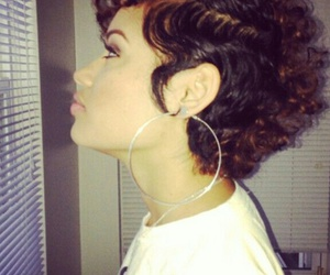 hair, curly, and short image