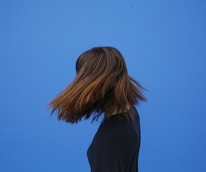 hair, blue, and aesthetic image