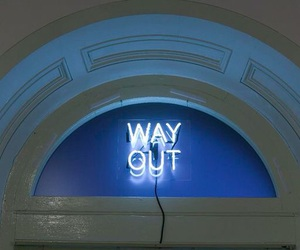 glow, way out, and blue image