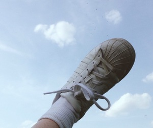 sky, shoes, and blue image