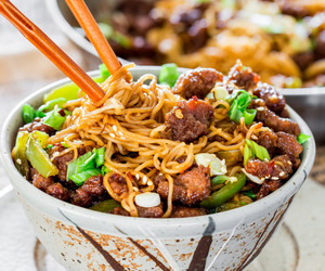 beef, Mongolian, and noodles image
