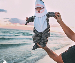 little man, cute, and sea image