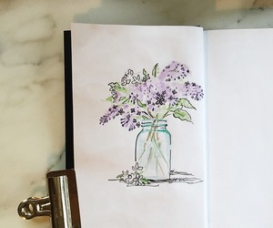 art, doodle, and lilacs image