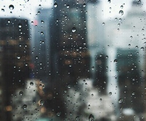 rain, city, and sad image