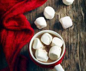 marshmallows, warm and cozy, and hot chocolate image
