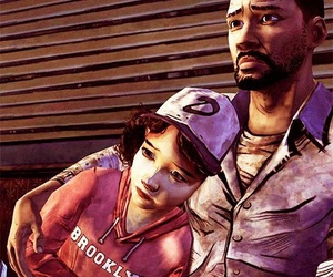 clementine, lee, and the walking dead image