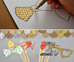 diy, bow, and glasses image