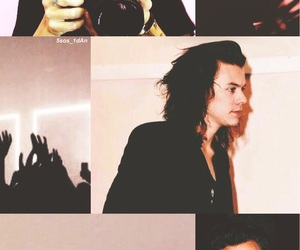 pink, lockscreen, and Harry Styles image