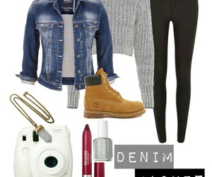 denim jacket, ootd, and cropped sweater image